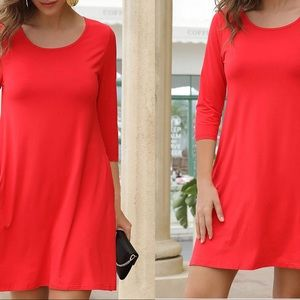 Dresses & Skirts - Red Casual Dress NWT